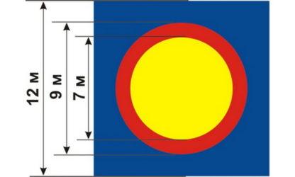 Борцовский ковер трехцветный с люверсами 12х12 м